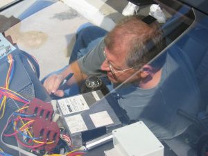 Robert Zemeckis signing The BTTF Car DeLorean Time Machine in 2008